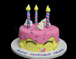 Shopkins Birthday Cake Coloring Page Birthdaycakeformomcf