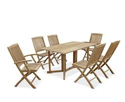eg table and 6 folding chairs set