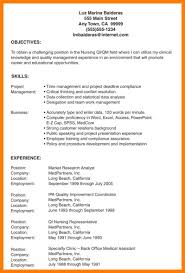 Lpn Resume Objectives Examples Restaurant Bar Team Member Resume