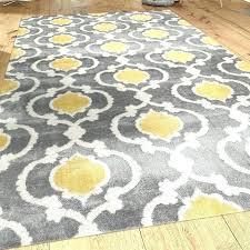 yellow and gray area rug