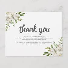 Personalized Sympathy Thank You Cards Personalized Funeral Thank You Note Behreavement Zazzle Com