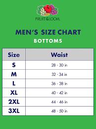 Boxer Size Chart Fruit Of The Loom Mens Active Cotton Blend Lightweight Boxer Briefs