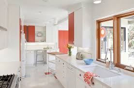 modern kitchen ideas with white cabinets. Unique White White Kitchen And Salmon Walls To Modern Kitchen Ideas With White Cabinets