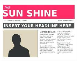 Editable Newspaper Template Word Free Newspaper Template For Editable Newspapers Outline