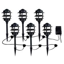 lighting alluring low voltage led landscape lighting kits outdoor the home depot transformer sets rope