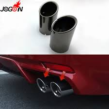 Muffler Design Us 43 28 8 Off Black Silver Dual Rear Tail End Tip Pipe Exhaust Muffler Stainless Steel For Toyota Camry Xv70 2018 Se Xse Sports In Mufflers From