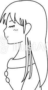 女の子 横顔 白黒 02イラスト No 1318900無料イラストなら