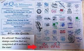 Minnesota Quilt Shop Hop | Tu-Na Quilts, Travels, and Eats & Here's the front and back page of my Quilt MN Shop Hop passport with all  the participating store stamps. We are now entered in the big drawing for  some ... Adamdwight.com