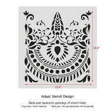 traditional border stencil for