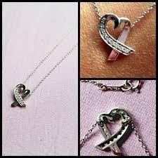 tiffany co paloma picasso 18k white gold loving heart pendant with diamonds
