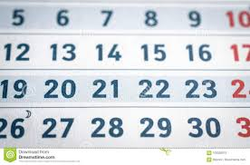 Business Calendar Page Close Up Stock Image Image Of Date