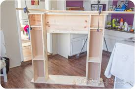 diy faux fireplace 2