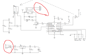 pic can some body help me understand some parts of a schematic circuit schematic and i do not understand what are the parts in red circles and what do they do the schematics are from a movement sensor using a pic