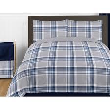 sweet jojo designs plaid comforter set reviews wayfair