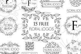 無料素材花や草をモチーフとした装飾フレーム枠ベクター素材ロゴ