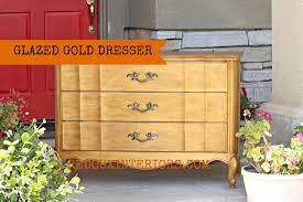 gold painted furnitureGold Painted Dresser layered glaze