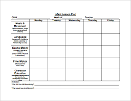 lesson plan template for kindergarten 8 lesson plan templates free sample example format download