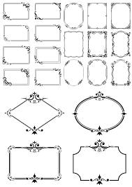 Decor Border Frames Set Free Vector Download In Cdr Cdr