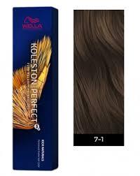 Wella Koleston Perfect Me Permanent Hair Color 7 1 Medium Blonde Ash