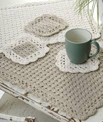 Free Crochet Placemat Patterns Enchanting Options Placemat Coaster Red Heart