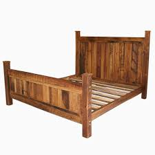 Buy a Handmade Cabin Style Reclaimed Wormy Chestnut Bed Frame, made ...