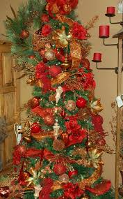 christmas trees decorated with red ribbon. Delighful Ribbon Christmas Tree Decorations With Red Ribbons  Photo12 Throughout Trees Decorated With Red Ribbon R