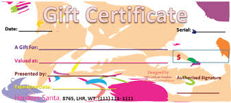 gift certificate for business abstract business gift certificate template