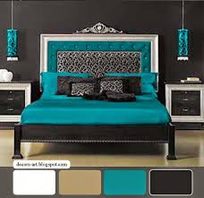 Bedroom: Brown And Turquoise Bedroom Ideas