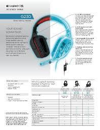logitech g230 gaming headset walmart com manuals guides