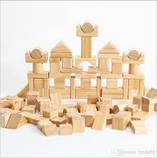 100 wooden wooden building blocks diy children puzzle toys 2 3 years old natural wood environment friendly paintdeft design preschool building blocks kids