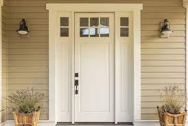 a wood fiberglass or steel front door