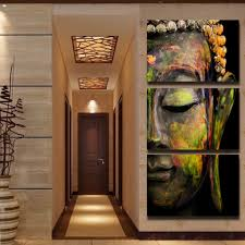 hd printed 3 piece canvas art abstract buddha painting modern home