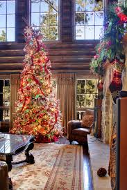 log cabin interior decorating issued in seasonal christmas decor magazines decorated by accent pillows for leather sofa