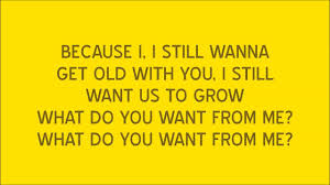 What Do You Want To Do Take That What Do You Want From Me Lyrics