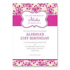 21st birthday invitation card template birthday invitations