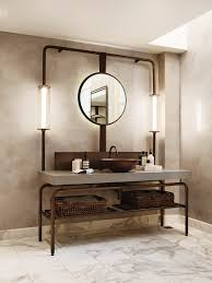 Industrial Bathroom Mirrors 10 Lighting Design Ideas To Embellish Your Industrial Bathroom