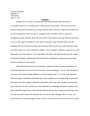 the blind side essay tommy schneider comp workshop the blind  3 pages macbeth essay