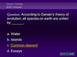 charles darwin theory of evolution essay the theory of evolution some refer to it as change over time the process age of