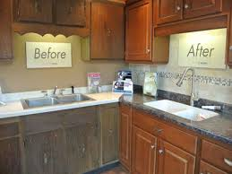 Resurface Kitchen Cabinets Cabinets Before And After Refinishing And Refacing Kitchen