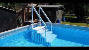 Generell lohnt sich die überlegung, welcher winkel der optimale ist, anhand der höhe und. Pooltreppe Easy Entry Synthetic Youtube