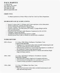 Security Officer Resume New Security Officer Resume Templates Download Sample Resume For Police