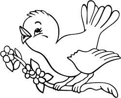 Coloring Page Of A Bird Red Cardinal Children Pages Free Birds