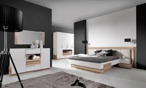 Schlafzimmer Komplett Set A Andenne Weiß Walnuss