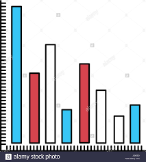 Color Sectors Silhouette Of Column Chart Stock Vector Art