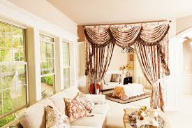 Wallpapered Living Rooms Outstanding Living Room Curtains With Valance Wallpaper Cragfont