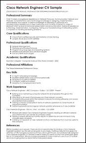Cisco Network Engineer CV Sample
