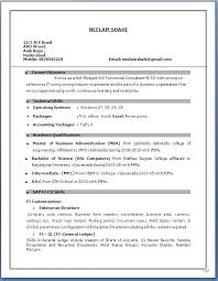 Download Resume Format For Experienced Download Format Of Resume
