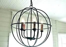 round iron chandelier faceted crystal black chandeli
