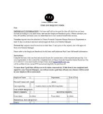 Personal Time Off Request Form 40 Effective Time Off Request Forms Templates Template Lab