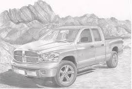 2008 Dodge Ram Laramie Pickup Truck Art Print Drawing by Stephen ...